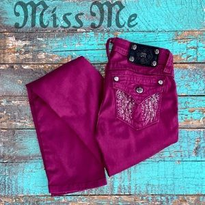 MISS ME- Raspberry little girls jeans